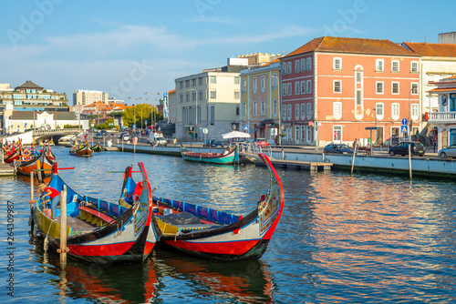 Photo Boat on Canal in Aveiro, Venice of Portugal,