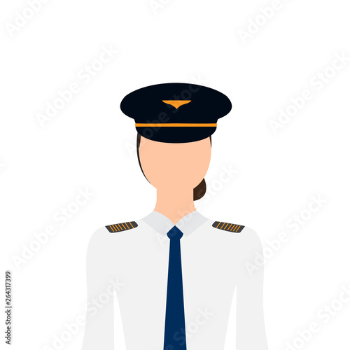 Canvas-taulu Isolated female pilot image. Vector illustration design