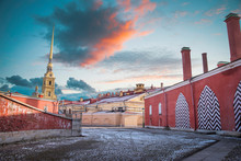 Peter And Paul Fortress In St....