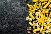Different Types Of Pasta Dry.