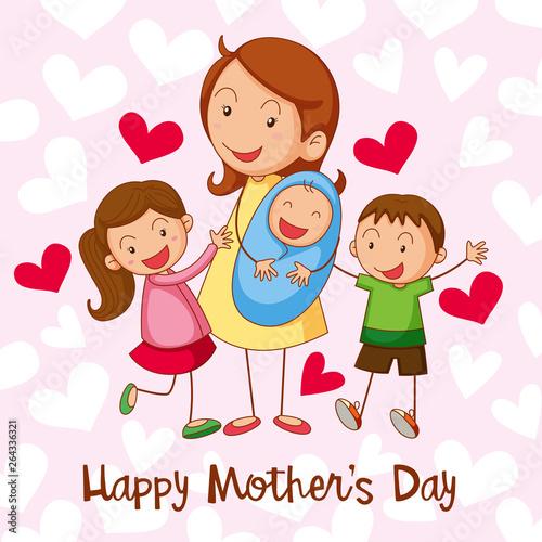 Papiers peints Jeunes enfants Happy mothers day card