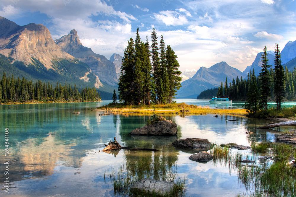 Fototapety, obrazy: Spirit Island - Jasper, Alberta, Canada