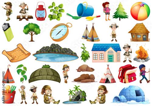 Cadres-photo bureau Jeunes enfants Set of various element