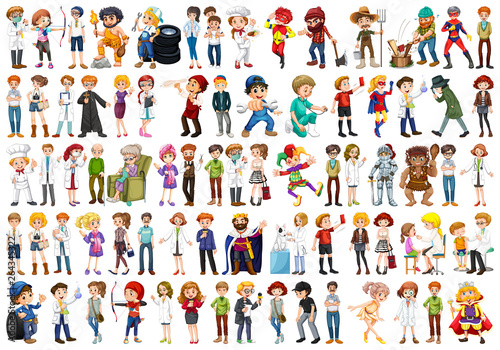 Canvas Prints Kids Set of people character