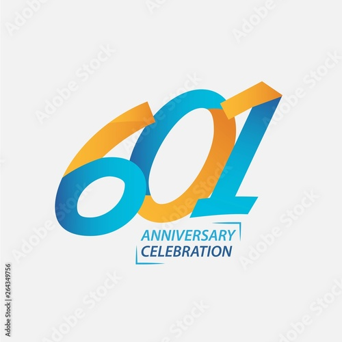 Fotografia  601 Year Anniversary Celebration Vector Template Design Illustration