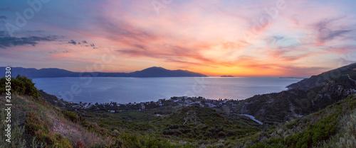 Photo Adriatic sea sunset view, Orikum, Albania