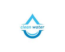 Clean Water Logo Vector Icon Illustration Design