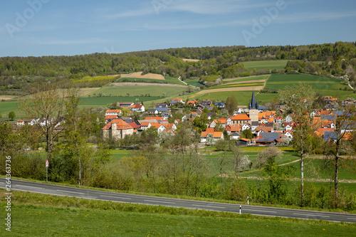 Foto op Aluminium Oranje Das Dorf Netra in Hessen