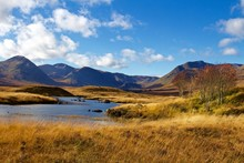 Autumn Day Near Loch Ba, Scotland, Roadside Viewing Location, HIghlands