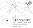 Large and detailed map of Lee county in Alabama, USA