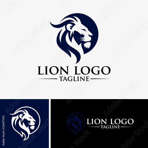 Lion Logo Images Tablou Canvas