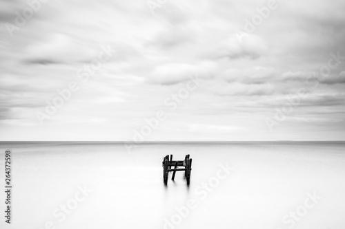 Foto auf Leinwand Landschaft Happisburgh sea defence, Norfolk broads, England