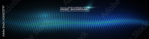 Türaufkleber Abstrakte Welle Music abstract background blue. Equalizer for music, showing sound waves with music waves, music background equalizer vector concept.