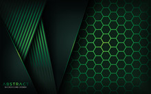 Green Hexagon Abstract Backgro...
