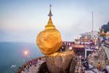 Kyaikhtiyo or Kyaiktiyo pagoda, Golden rock, Myanmar.They are public domain or treasure of Buddhism, no restrict in copy or use