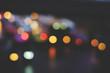 color blur bokeh in the night