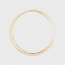Round Frame Isolated On White Background