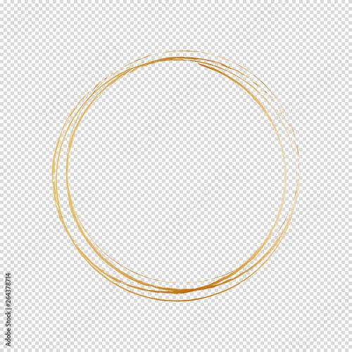 Photo  round frame isolated on white background