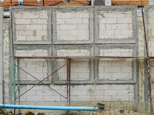 Fototapety, obrazy: aged street block wall in construction site