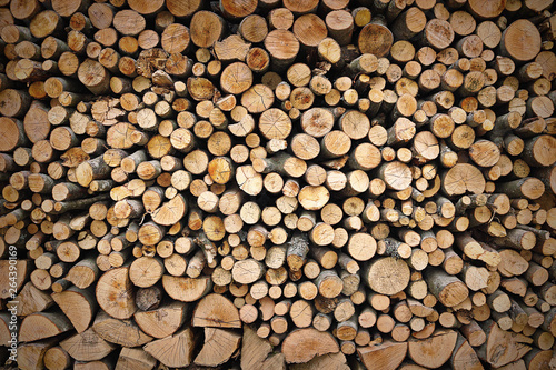 textural image of firewood pieces