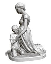 Polygonal Statue Of Praying Wo...