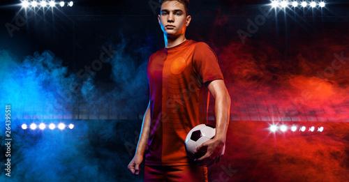 Teenager - soccer player Fototapeta
