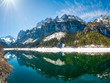 Berge spiegeln sich auf dem See - Alpen in Österreich