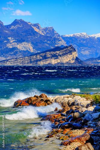 Slika na platnu Lake Garda on a spring day