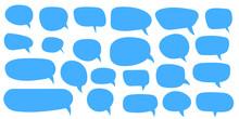 Set Of Speech Bubbles. Blank Empty Vector Speech Bubbles. Cartoon Balloon Word Design.