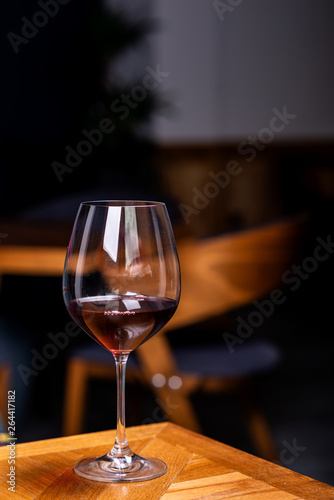 Foto op Canvas Alcohol Glass with red wine, tasting, restaurant