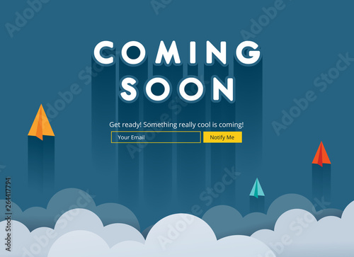 Photo Coming soon website template