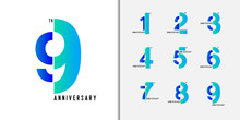 Set Of Anniversary Logotype. M...