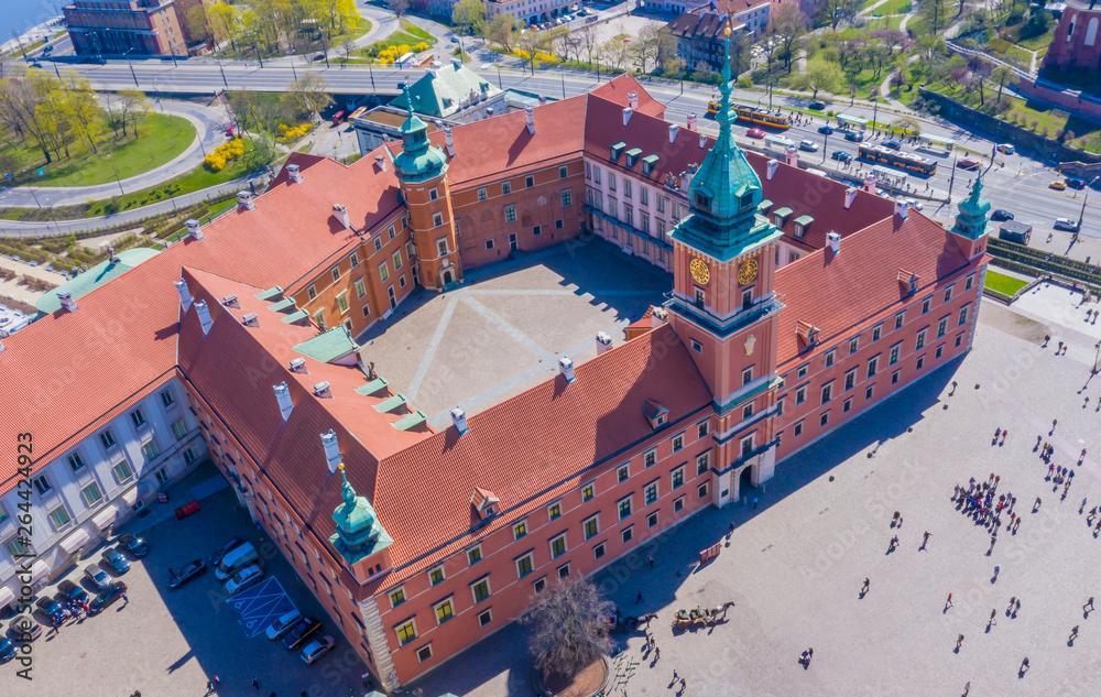 Fototapety, obrazy: Widok z lotu ptaka Plac Zamkowy w Warszawie