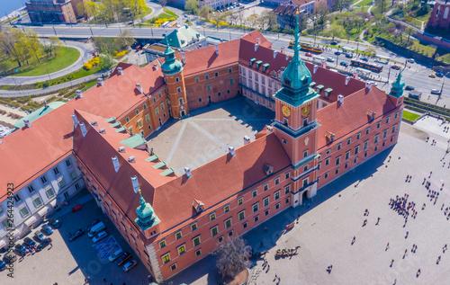Obraz Aerial view of Castle Square in Warsaw, Poland - fototapety do salonu