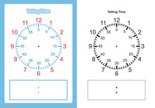 Teaching Time Chart Telling The Time For Teacher Chart  For Teaching Time Vector