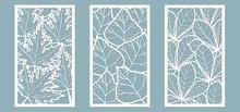 Set. Leaves, Maple, Chestnut, ...