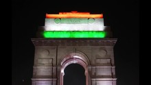 India Gate Lit With Tricolor L...