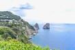 Faraglioni Cliffs and Tyrrhenian Sea Near Capri Island