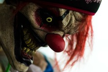 Creepy Clown Face Close Up Halloween Decoration