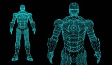 Vector Robot 3d Super Hero
