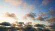 南国沖縄の夜明けの空と夏雲
