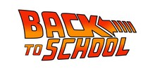 04/25/2019:Back To School Logo. Welcome Sign. Vector Illustration Based On The Movie: Back To The Future