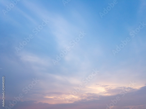Foto  Evening sky, sunset