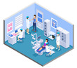 Dentist Isometric Composition
