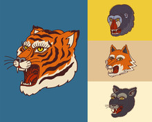 Vintage Animal Heads. Logo For...