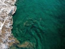 Lacy Foam Edges Ocean