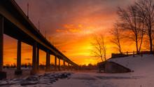 Orange Winter Sunset