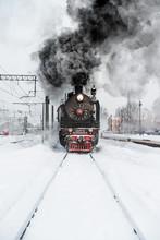 Train Emits Black Smoke