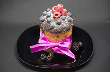 Easter Cake With Wild Berries ...