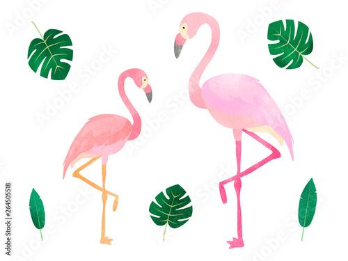 Canvas Prints Flamingo Bird watercolor flamingo